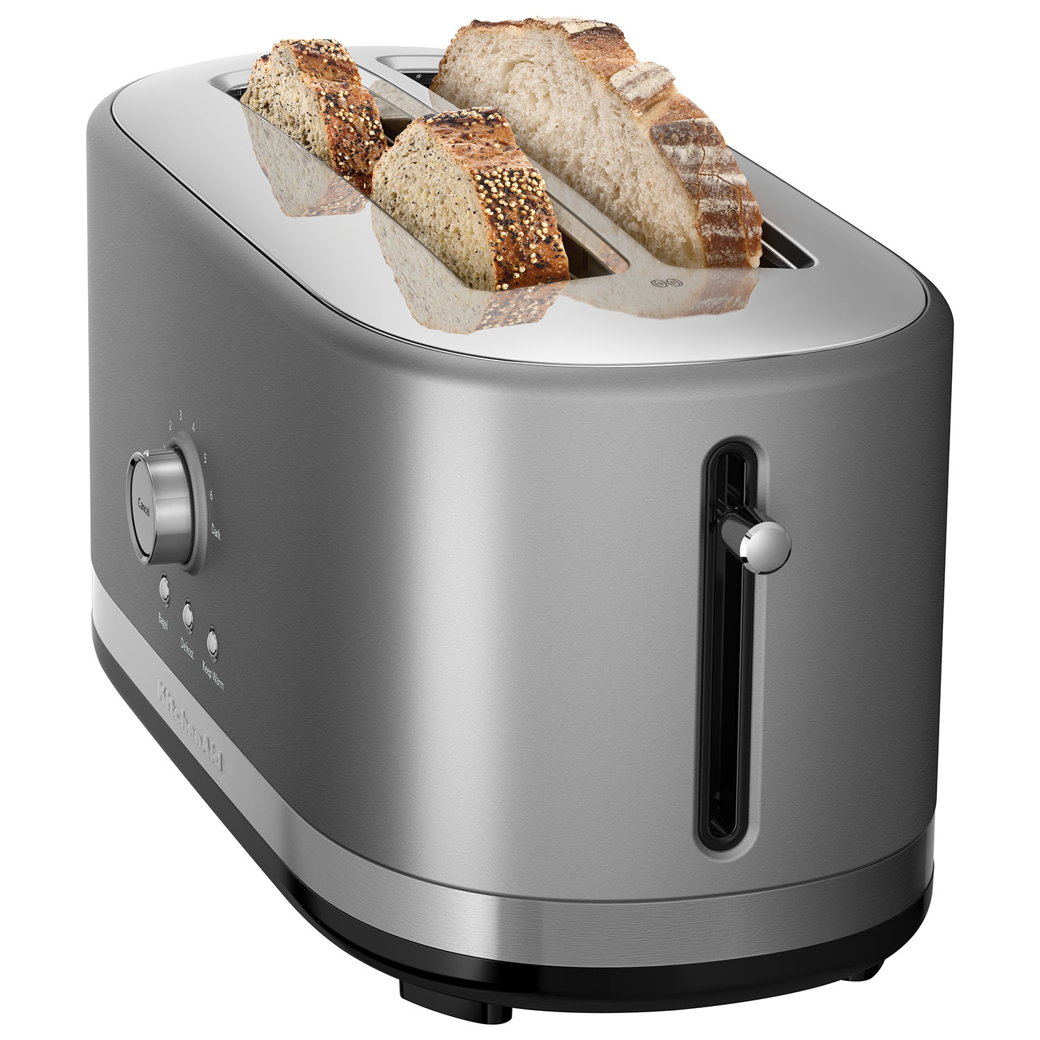 KitchenAid Long Slot Toaster   4 Slice   Contour Silver : Toasters   Best  Buy Canada