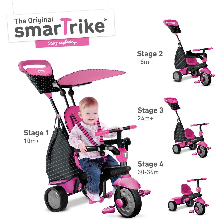 smart trike in kid tricycle  glow pink  kids bikes  - smart trike in kid tricycle  glow pink  kids bikes  tricycles  bestbuy canada