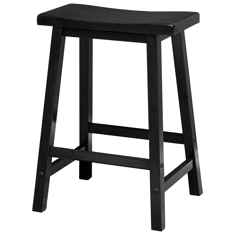Saddle seat transitional bar stool black online only