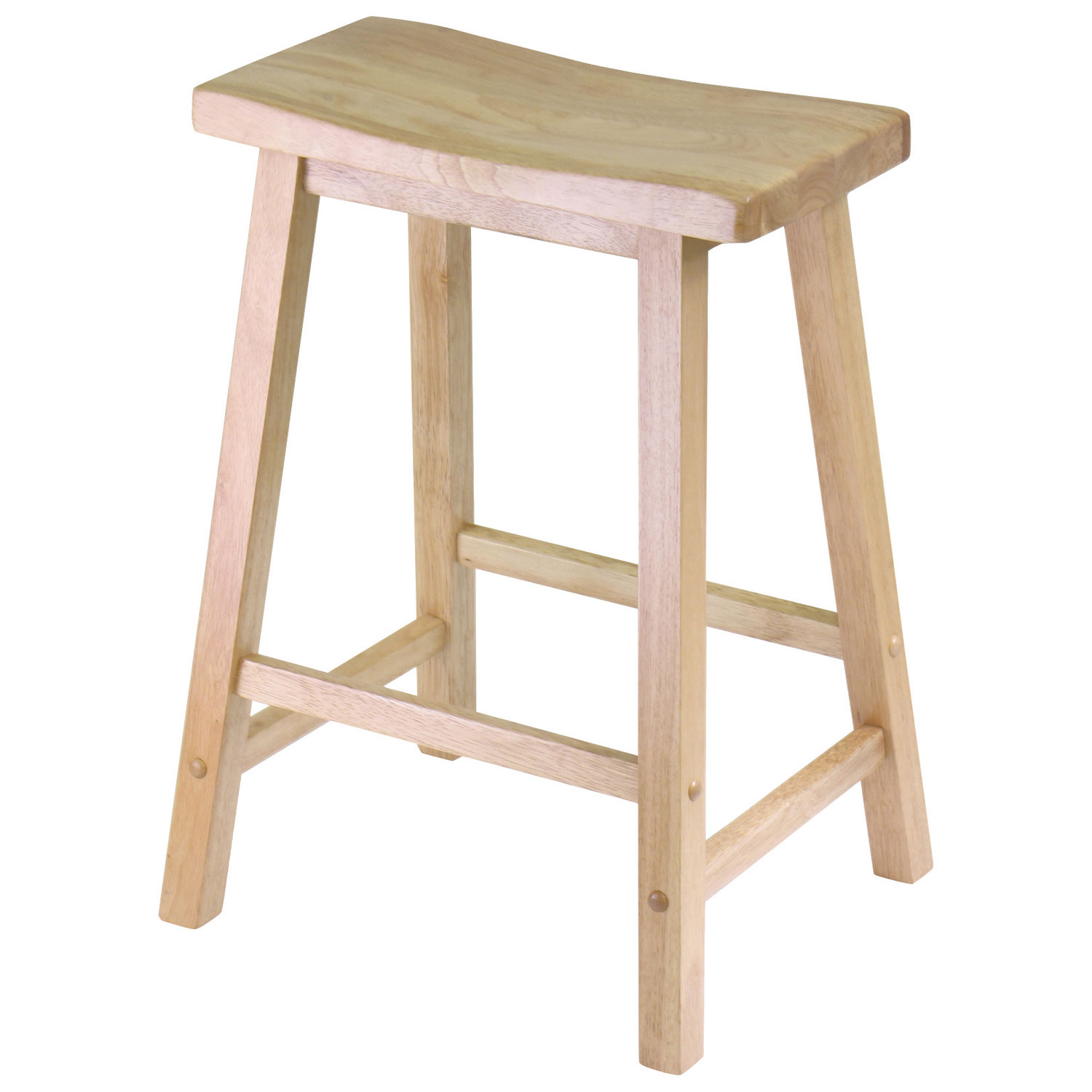 Saddle Seat Transitional Counter Height Bar Stool Natural Bar