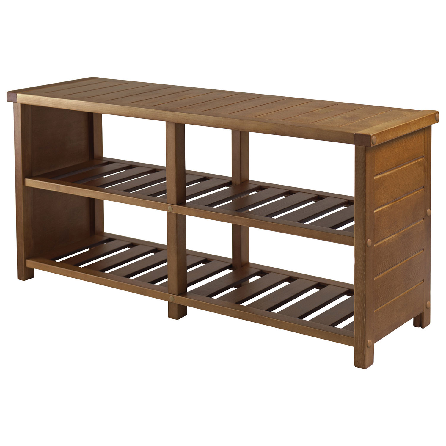 Keystone 2 Shelf Shoe Storage Bench Teak Best Buy Canada