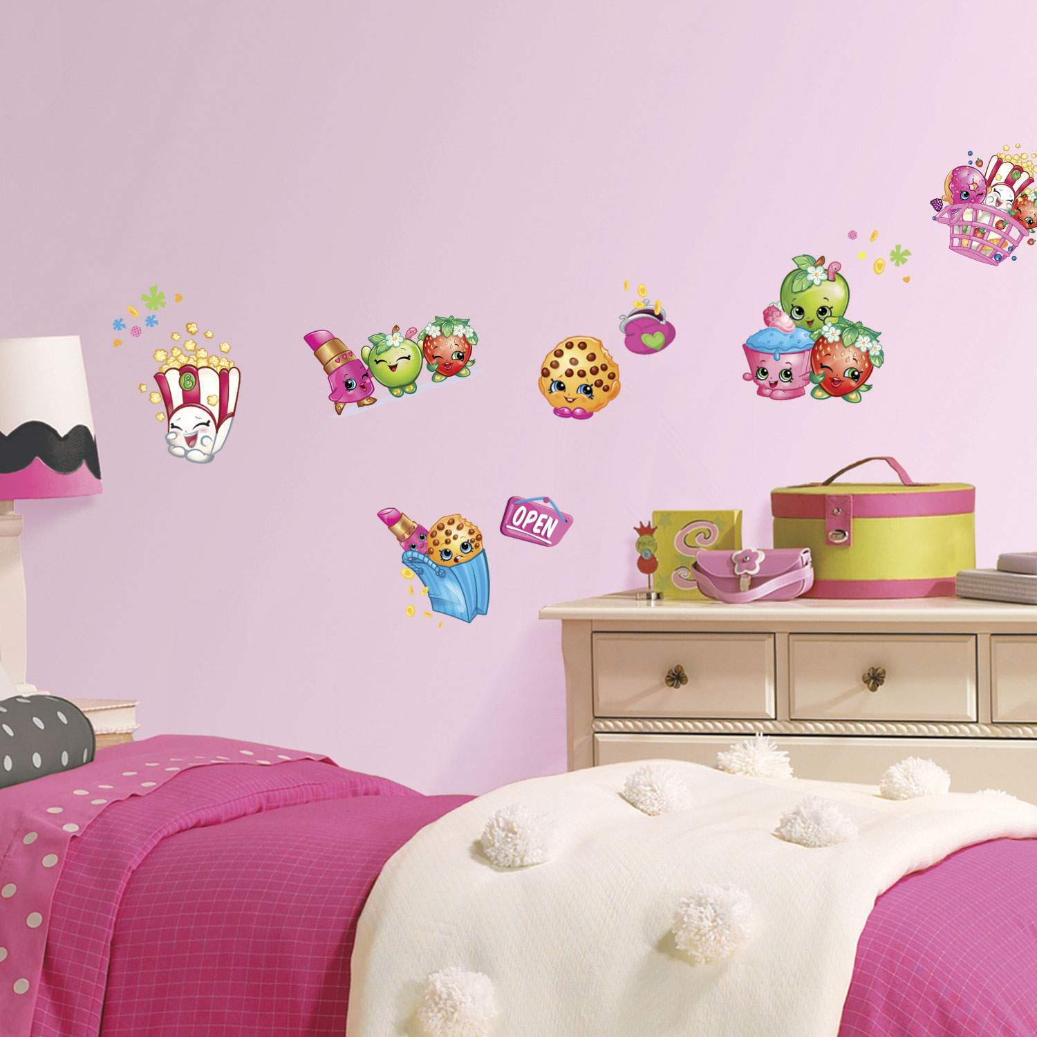 Roommates peppa pig wall decal pinkblue wall dcor borders roommates shopkins wall decal dcalcomanie murale de roommates shopkins amipublicfo Images