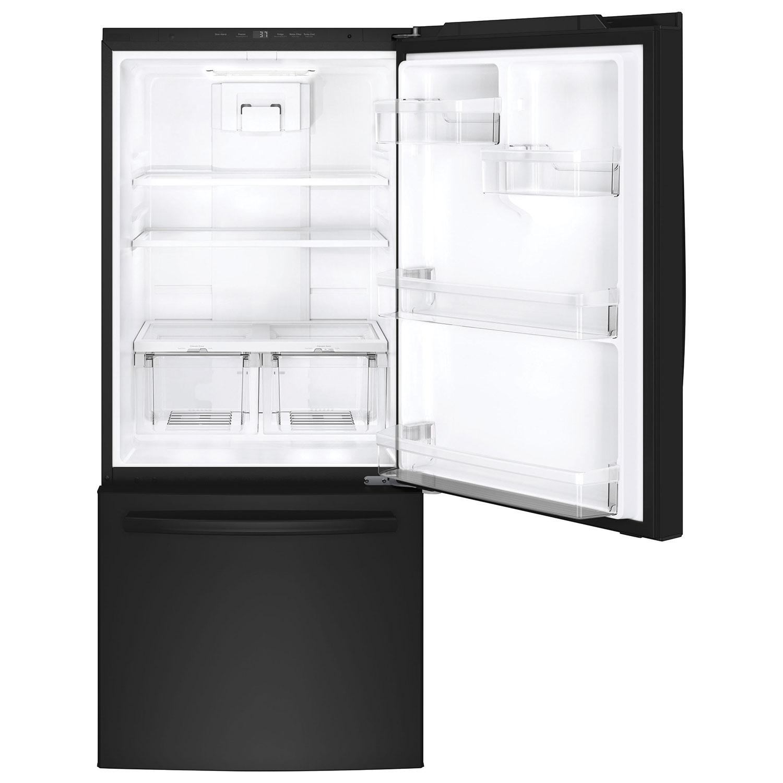 kenmore bottom freezer refrigerator. ft. bottom mount freezer refrigerator with led lighting (gde21dgkbb) - black : refrigerators best buy canada kenmore