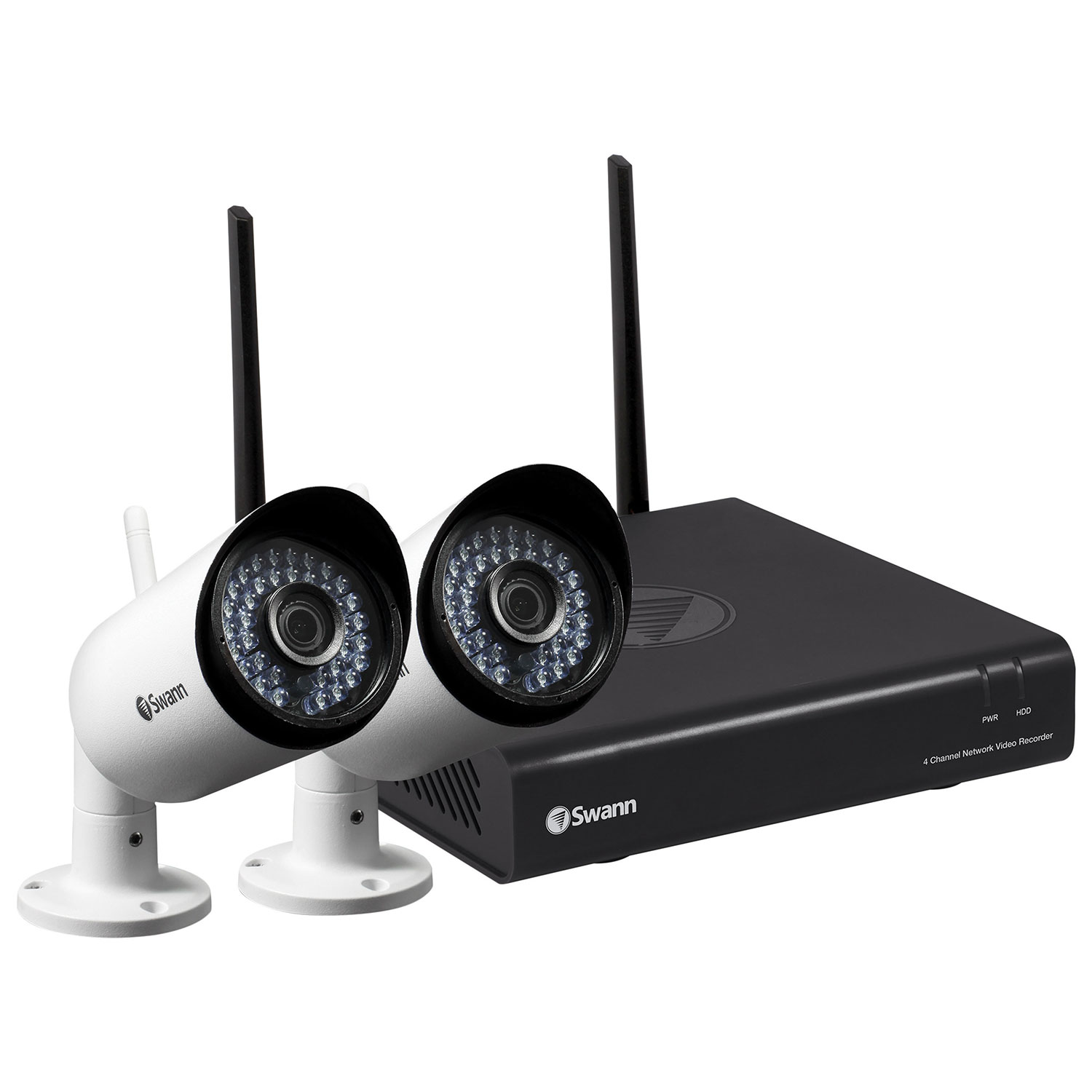 Swann Wireless 4 Ch 1tb Security System With 2 Bullet 1080p Cameras 8 Channel Samsung Wiring Diagram White Ip Best Buy Canada