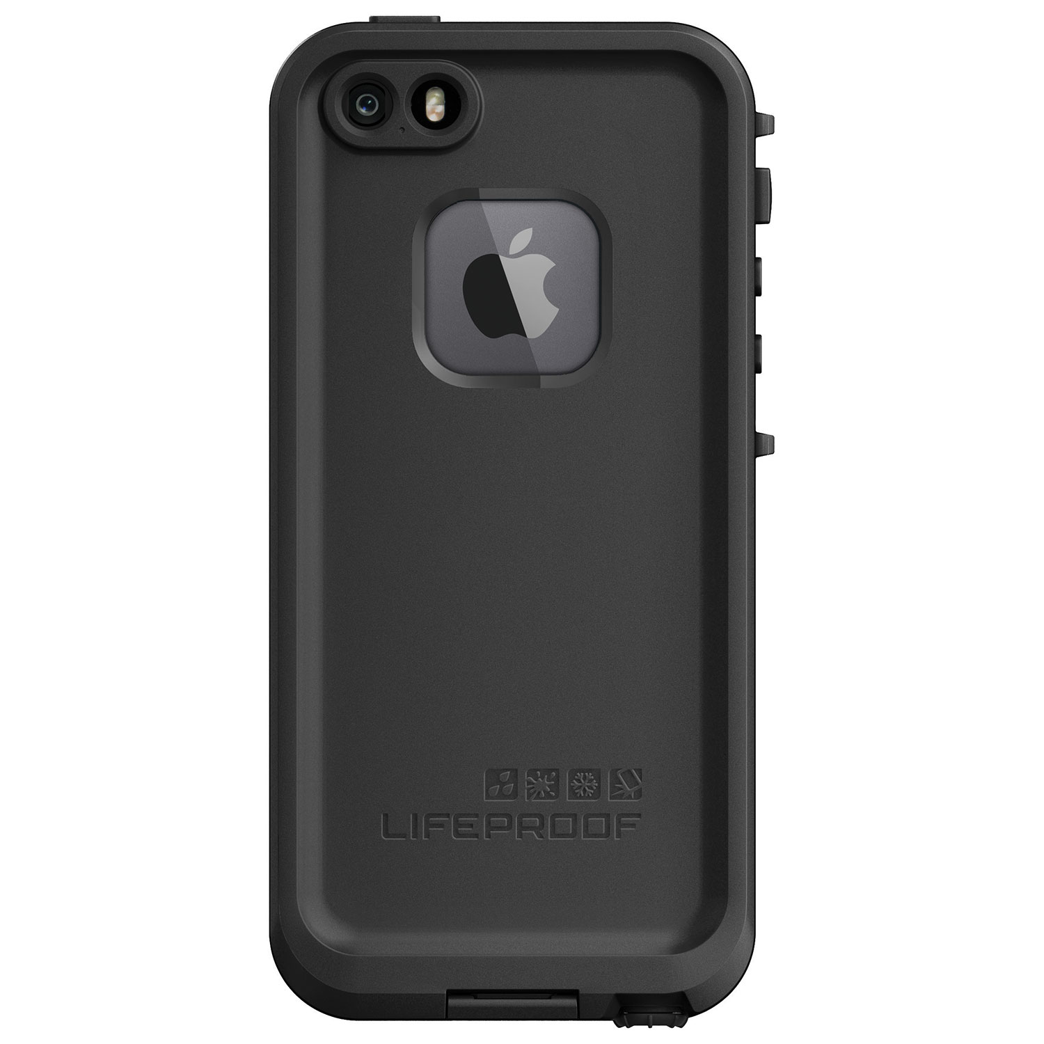 Lifeproof fre iphone 5 5s 5e fitted hard shell case black