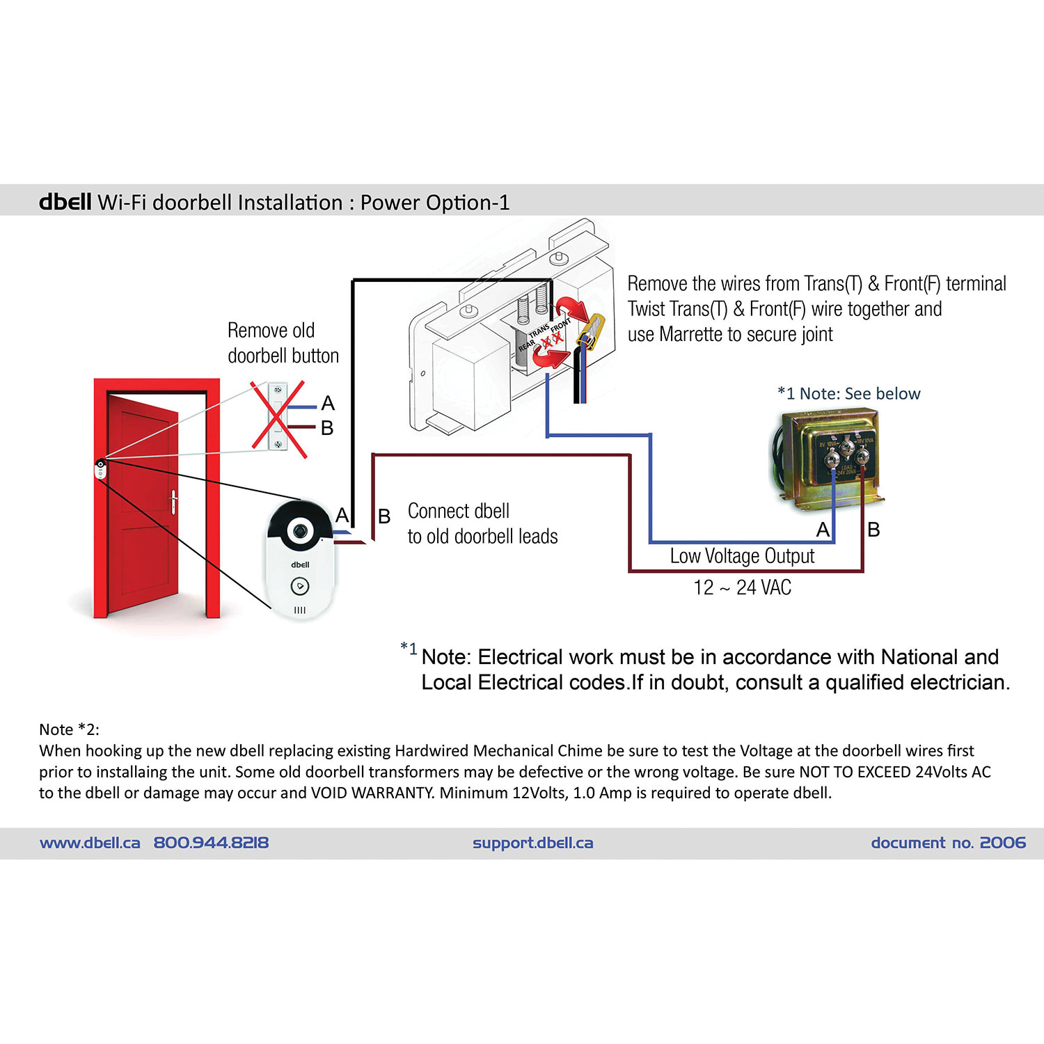 Single Door Doorbell Wiring Schematic Free Diagram For You Chime Transformer Mechanical Simple How To Wire A Two Button