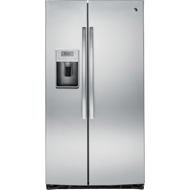 Stainless Steel Refridgerators Ge Profile 36 254 Cu Ft Side By Side Refrigerator Pse25kshss