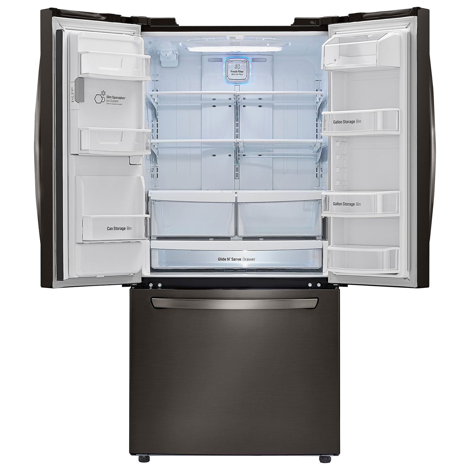 refrigerator black. ft. french door refrigerator with water \u0026 ice dispenser (lfxs24623d)-black stainless : refrigerators - best buy canada black