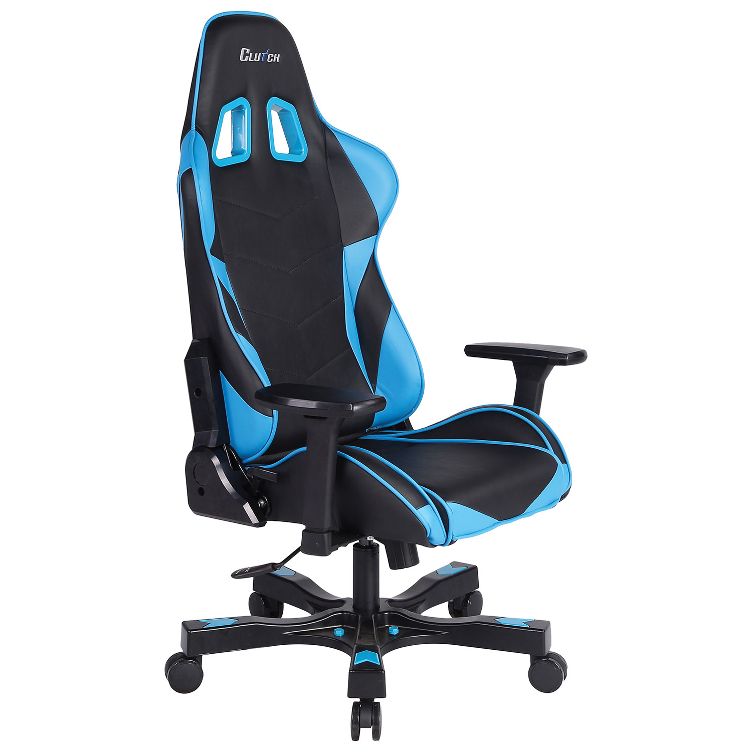 Super comfortable gaming chair - Clutch Chairz Crank Charlie Gaming Chair Blue Black