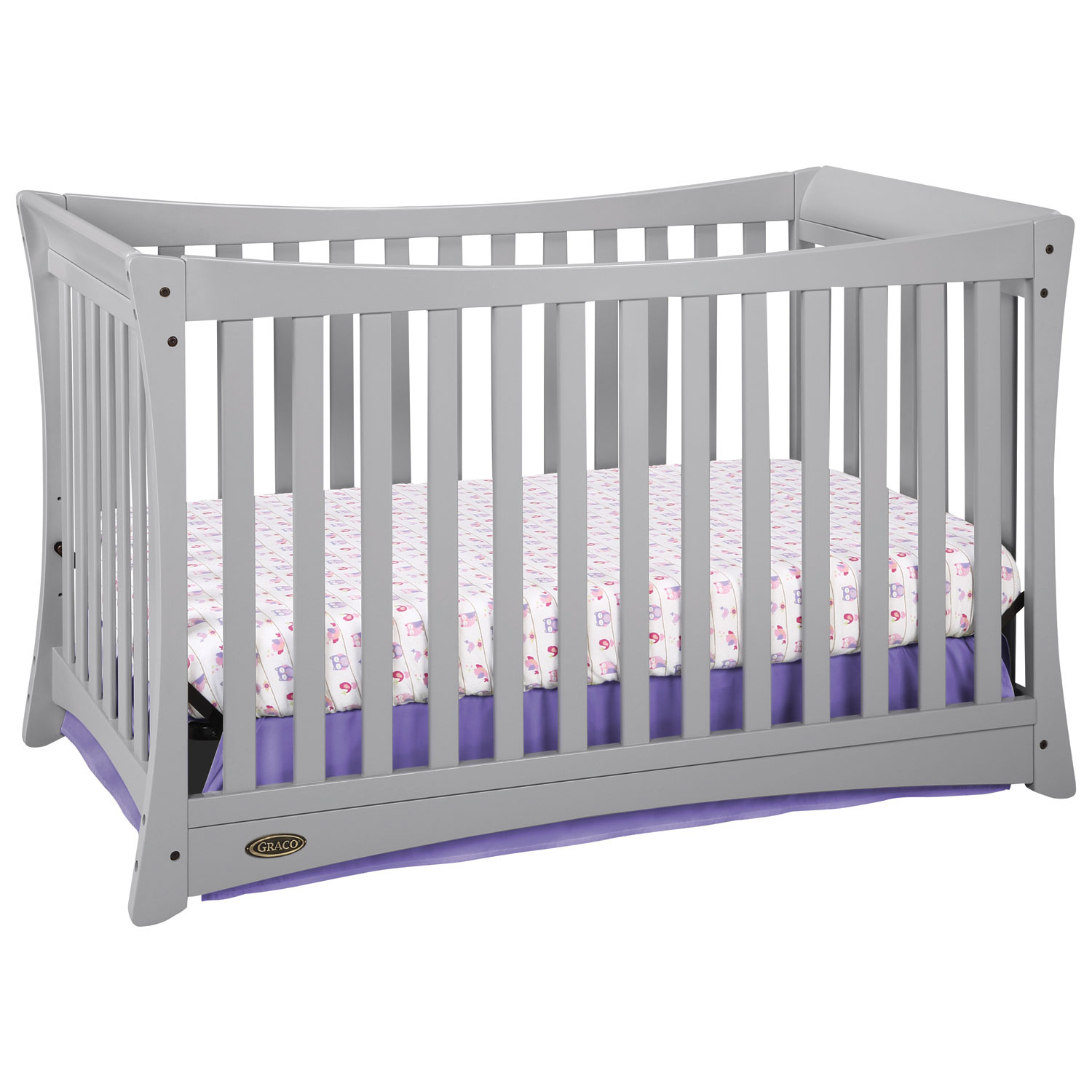 Crib for sale kelowna - Graco Tatum 4 In 1 Convertible Crib Pebble Grey