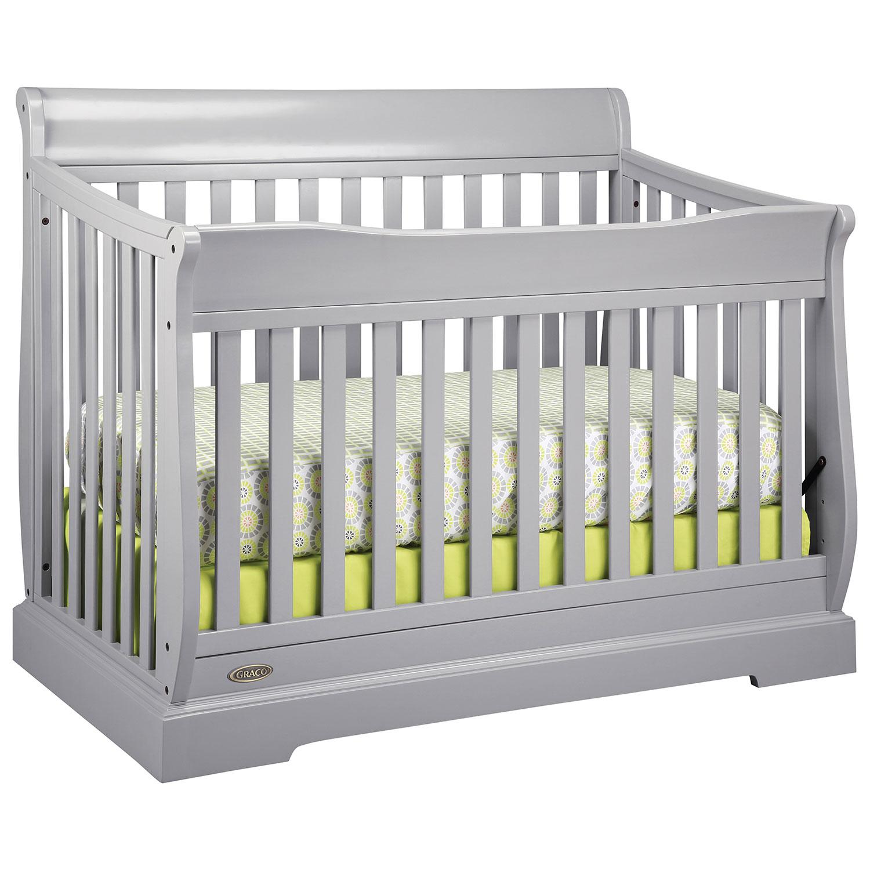 Baby cribs canada sale - Graco Maple Ridge 4 In 1 Convertible Crib Pebble Grey