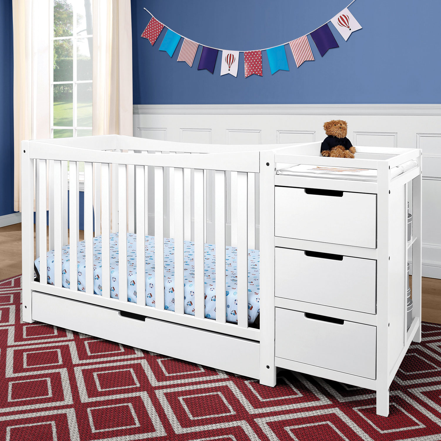 Graco Remi 4 In 1 Convertible Crib & Changer  White Baby