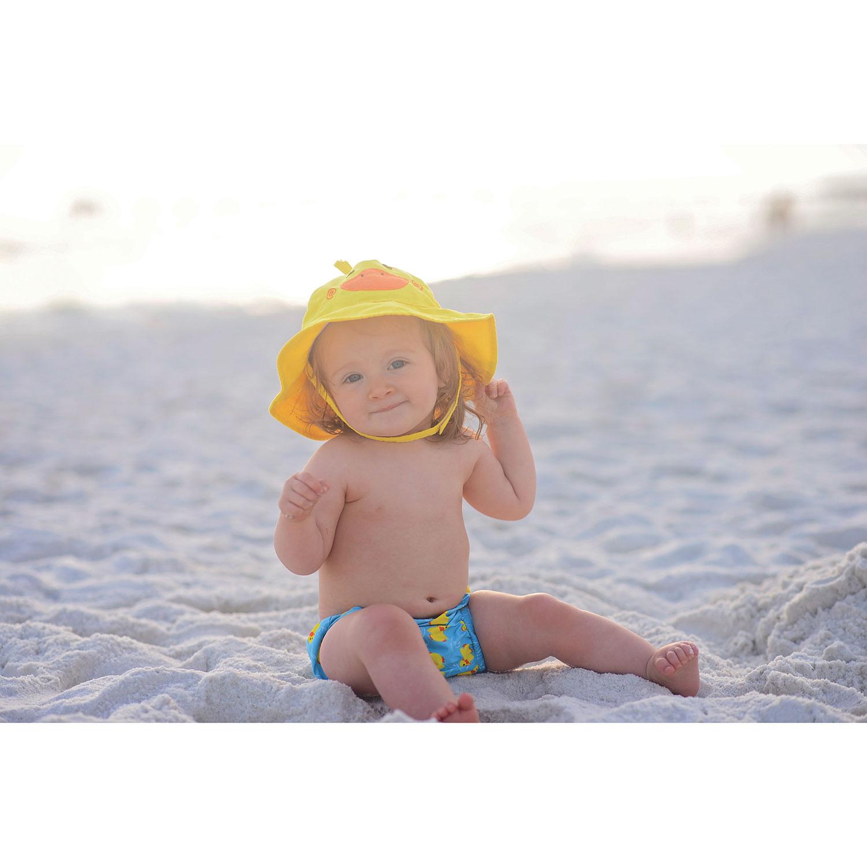 Zoocchini Baby Duck Swim Diaper   Sun Hat Set - 12 to 24 Months -  Yellow Blue   Baby Swimwear - Best Buy Canada 548108038acf