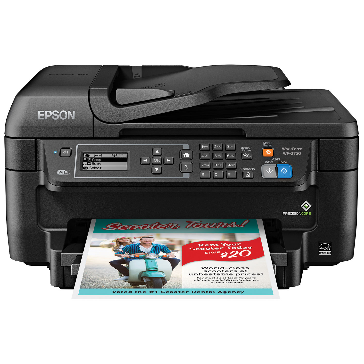 Color printing vs black and white cost - Epson Workforce Wf 2750 Wireless All In One Inkjet Printer