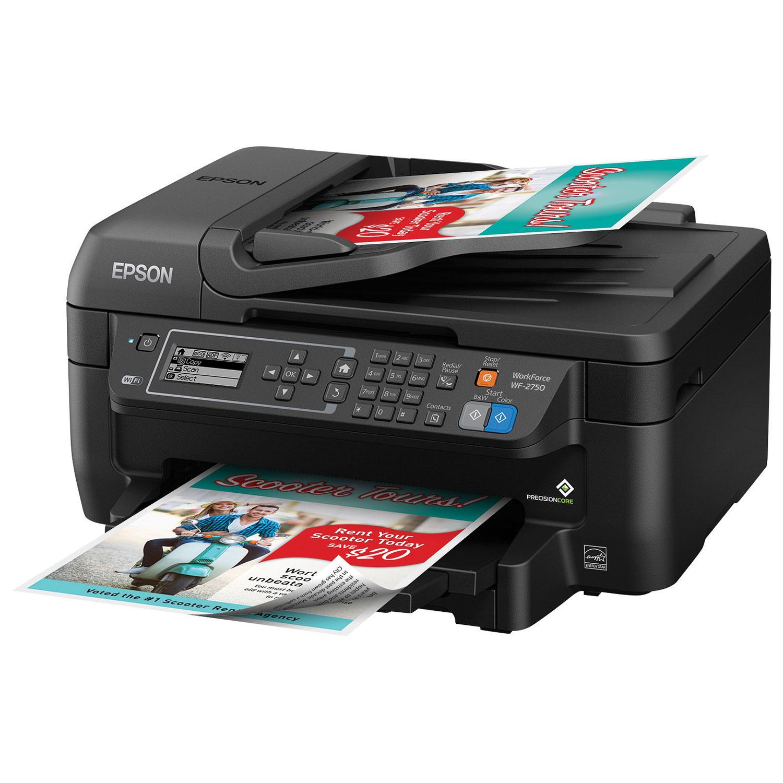 Epson WorkForce WF 2750 Wireless All In One Inkjet Printer Printers