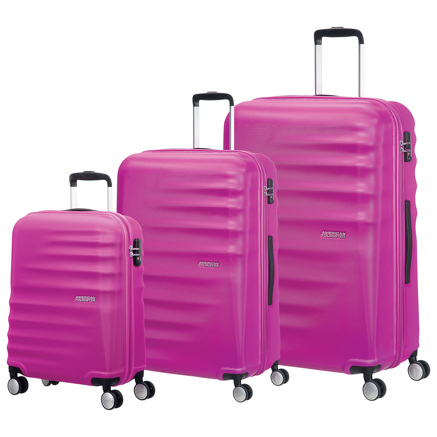 American Tourister Wavebreaker 3-Piece Hard Side 4-Wheeled Luggage ...