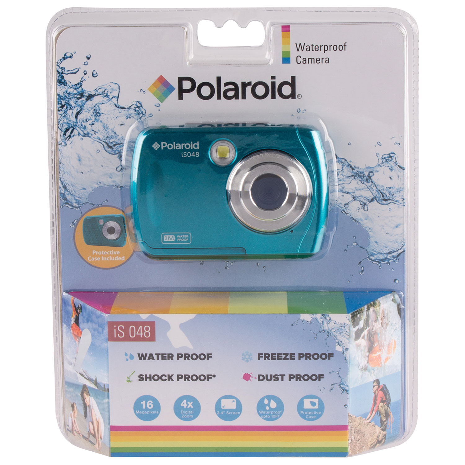 Polaroid Iso48 Waterproof 16mp 4x Optical Zoom Digital Camera Teal Diagram Film My Journey Point And Shoot Cameras Best Buy Canada