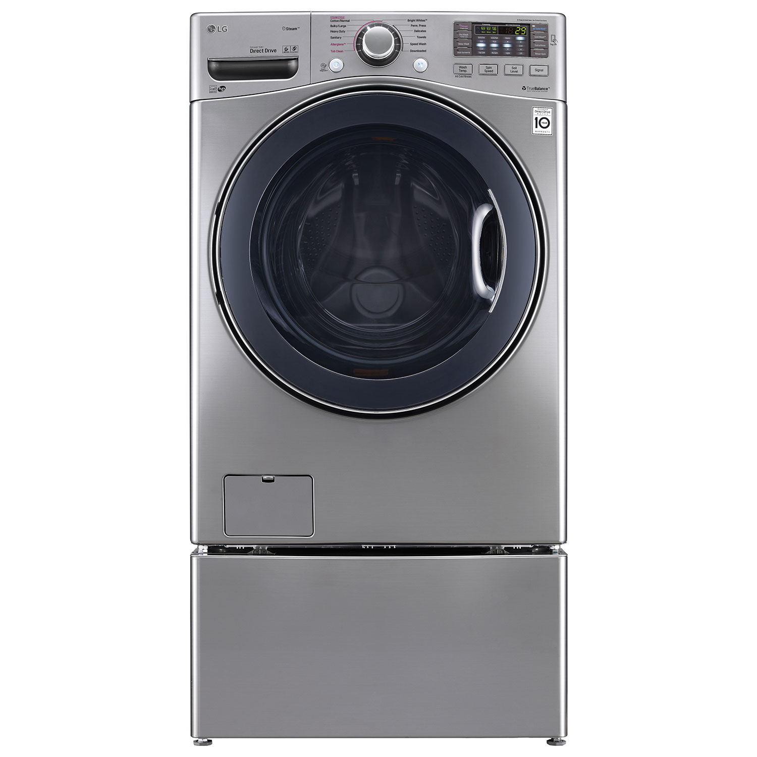 Steam Technology Washer Lg 52 Cu Ft High Efficiency Turbowash Front Load Steam Washer