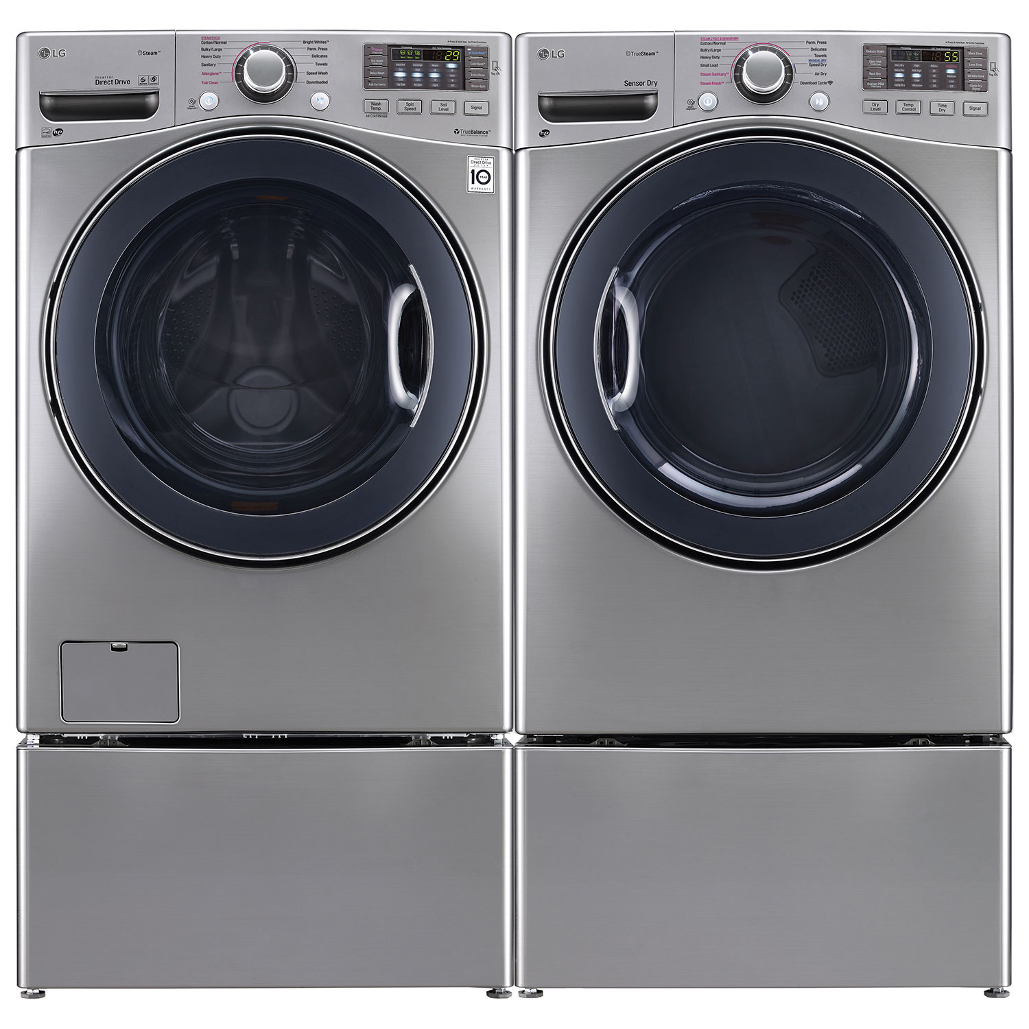 Large Washers Lg 52 Cu Ft High Efficiency Turbowash Front Load Steam Washer