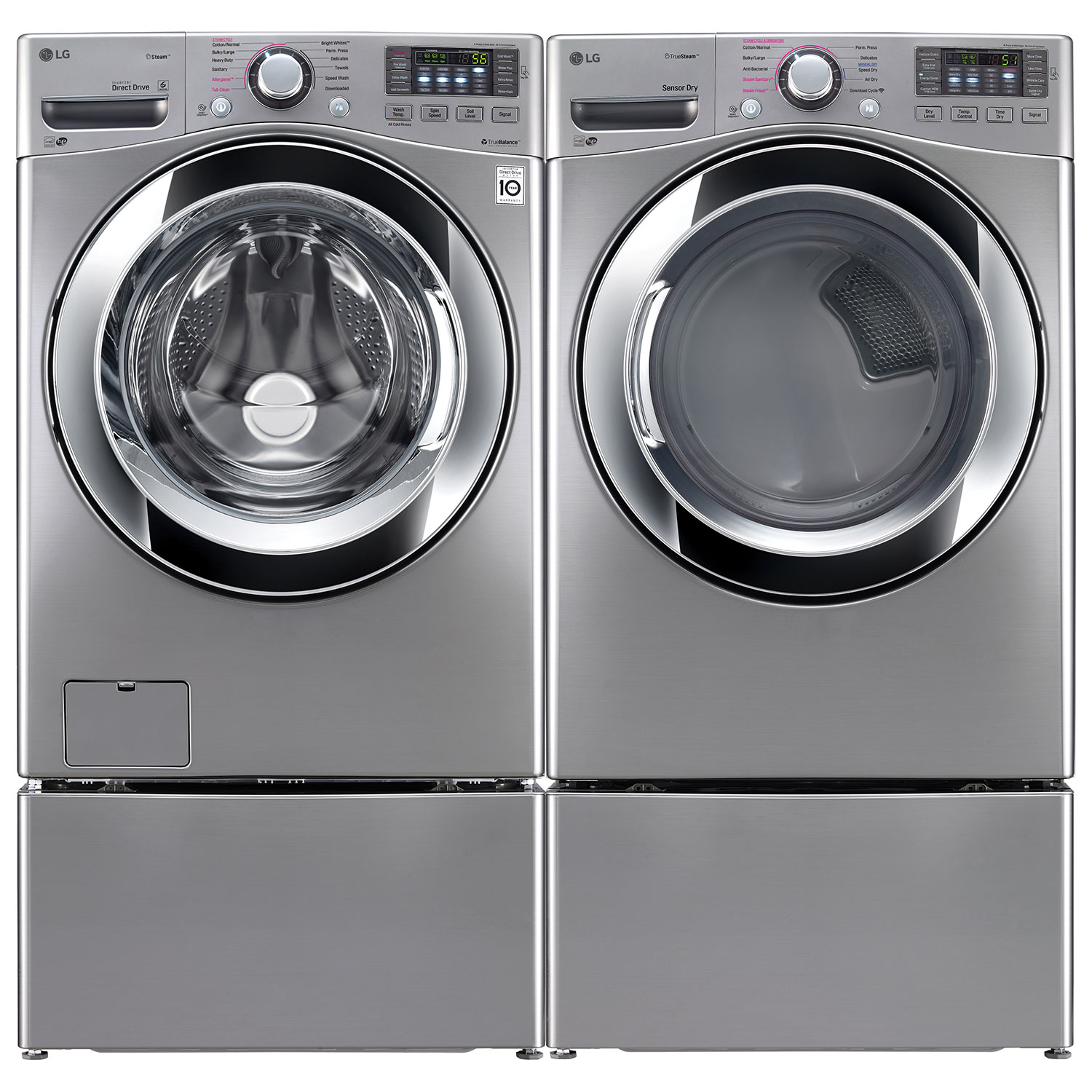 Best Price On Front Load Washer And Dryer Lg 52 Cu Ft High Efficiency Front Load Steam Washer Wm3670hva