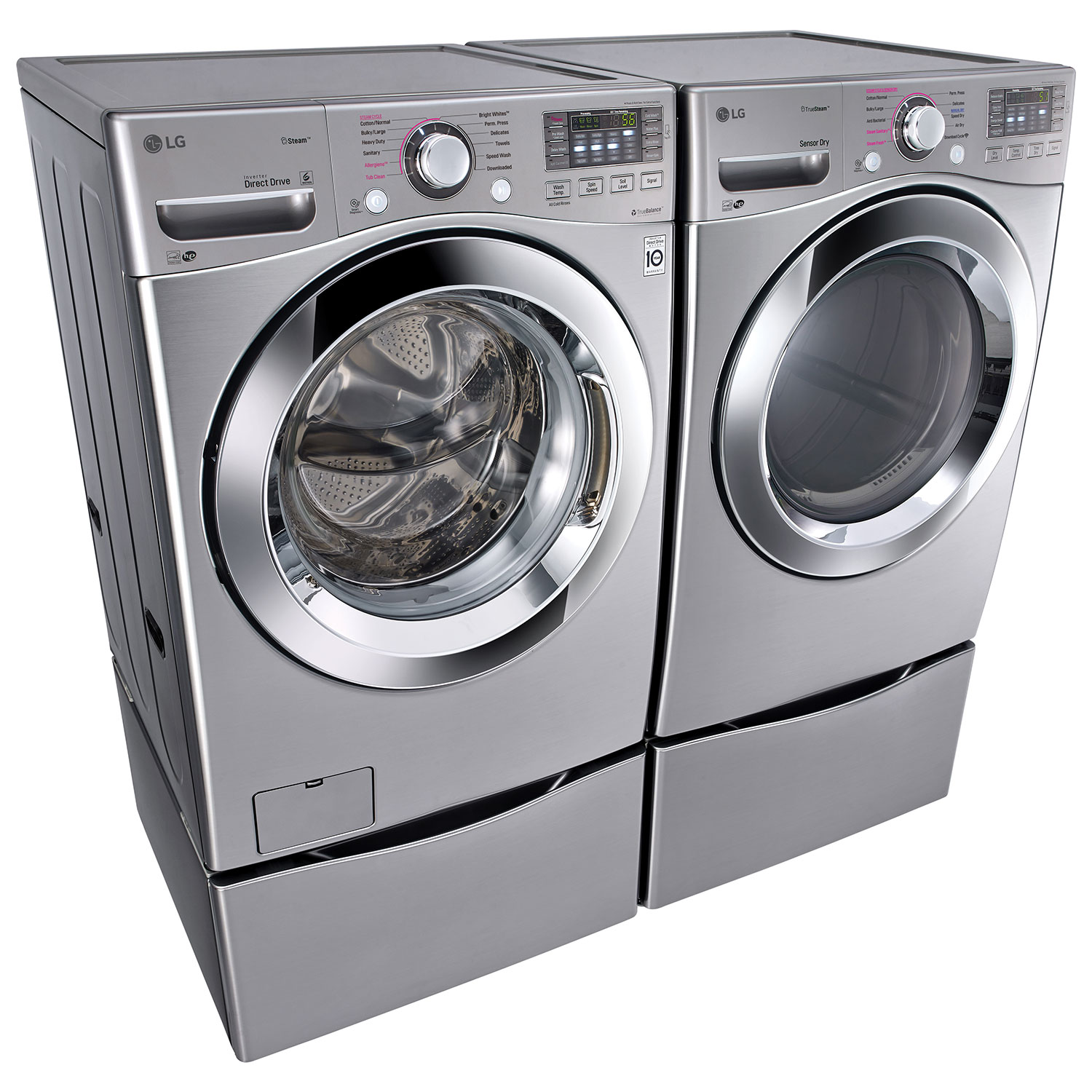 lg 52 cu ft high efficiency front load steam washer wm3670hva silver washers best buy canada