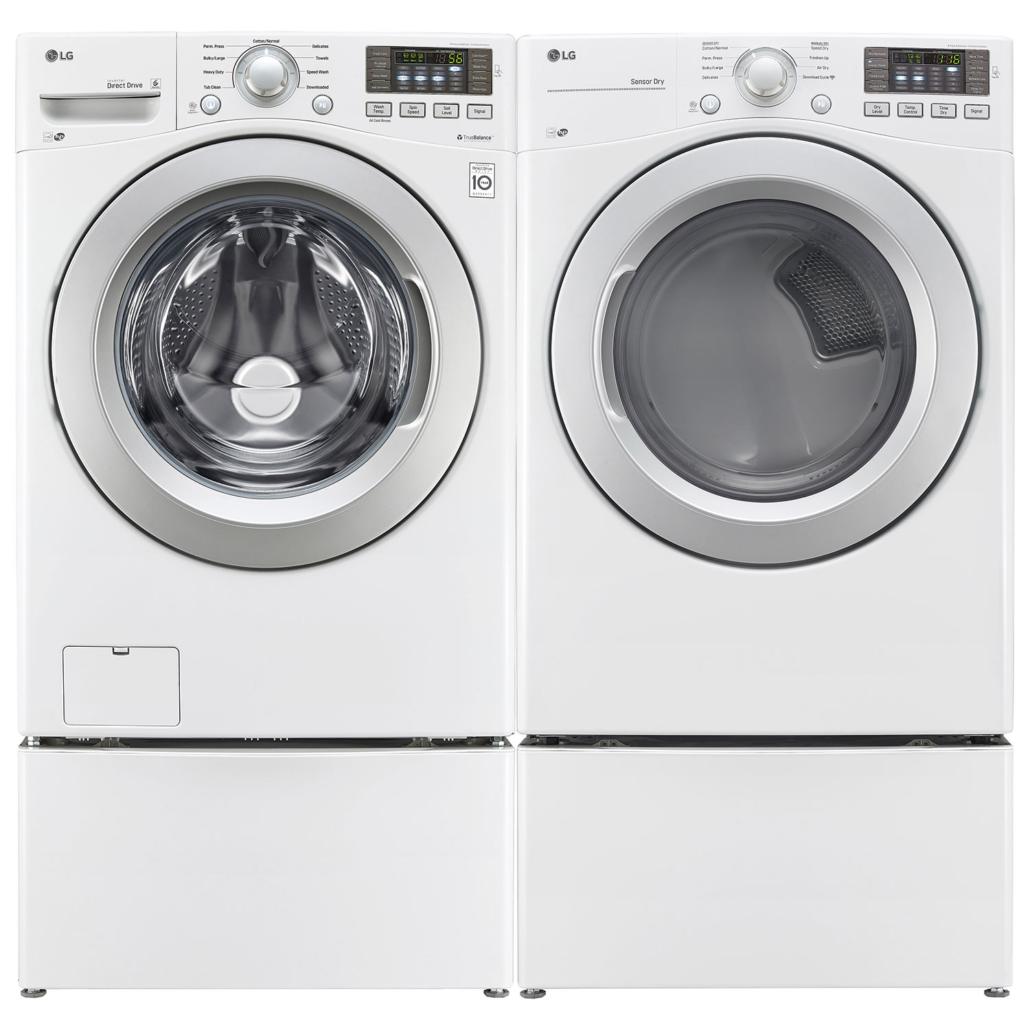 lg 52 cu ft high efficiency front load washer wm3270cw white washers best buy canada