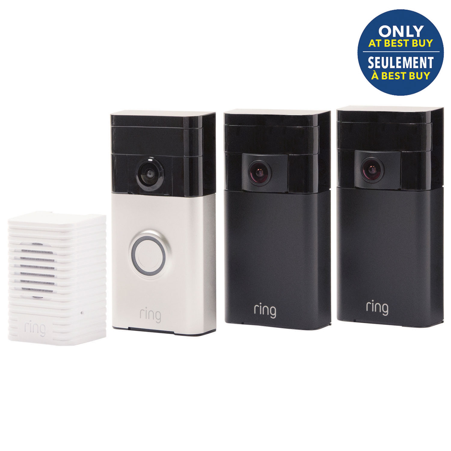 Ring Home Security Kit with HD Video Doorbell & 2 Wire Free ...