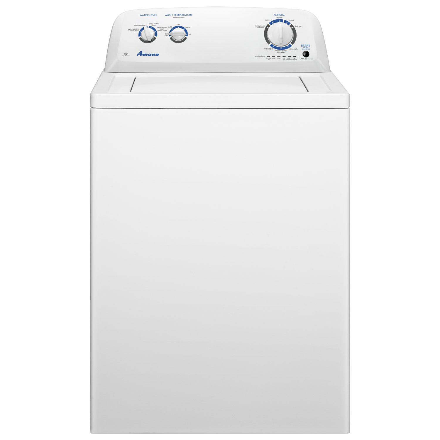 Amana 4 0 Cu Ft Top Load Washer NTW4516FW White Washing