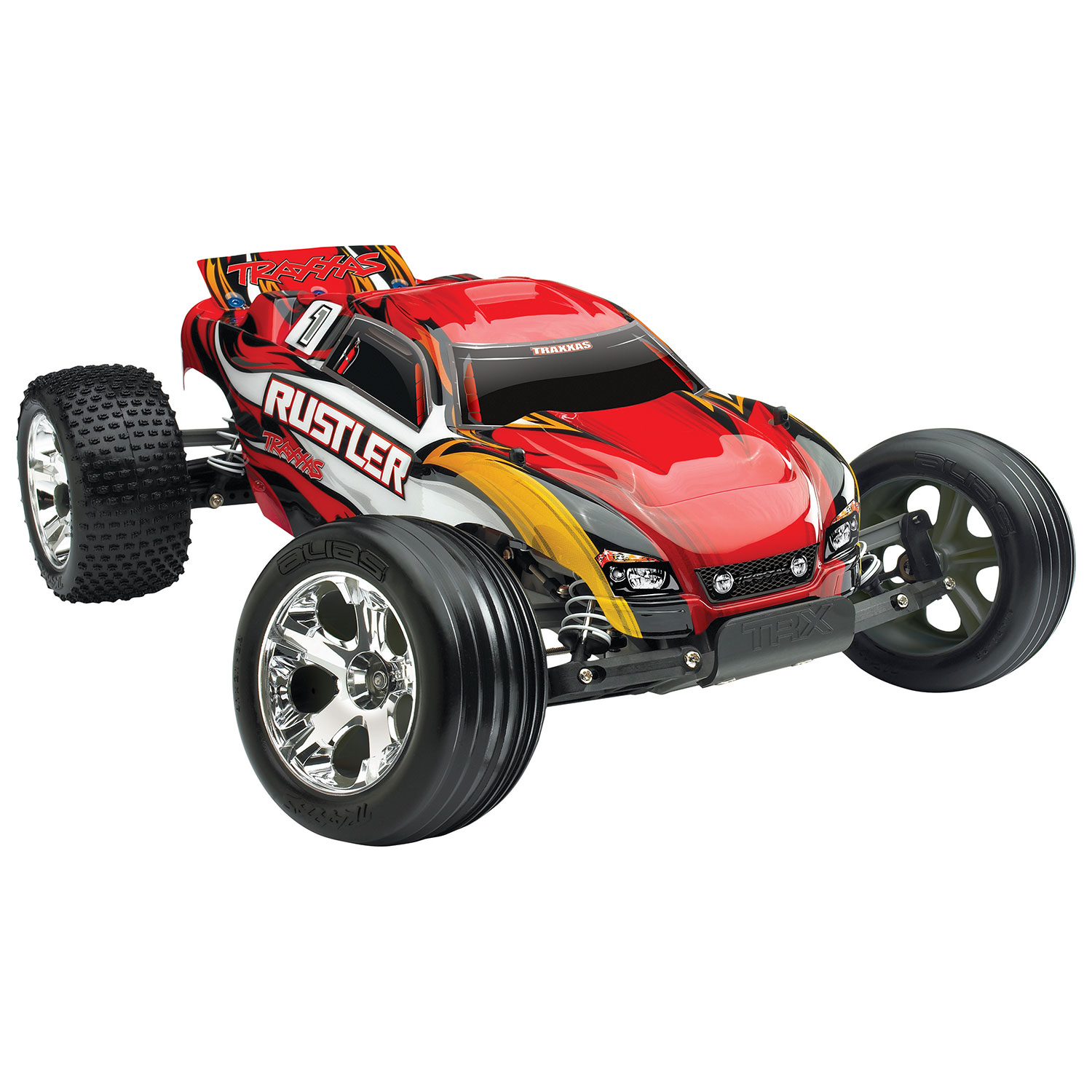 The first Traxxas RC vehicle I want to discuss is the Traxxas Rustler 2WD 1 10 Scale RC Truck This truck which is kind of a cross between a monster truck