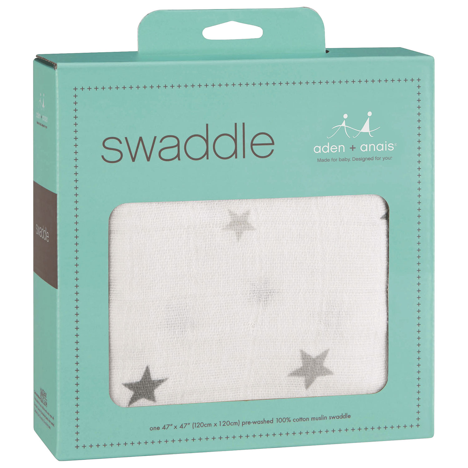 Crib for sale kelowna - Aden Anais Classic Twinkle Cotton Swaddle Grey
