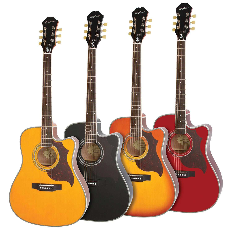 epihone ft 350sce min etune acoustic electric guitar eeatwrnh1