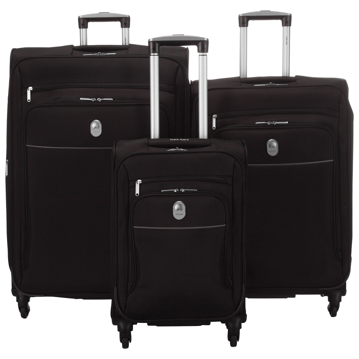 Luggage With Drawers Delsey Cannes 3 Piece Soft Side 4 Wheeled Expandable Luggage Set
