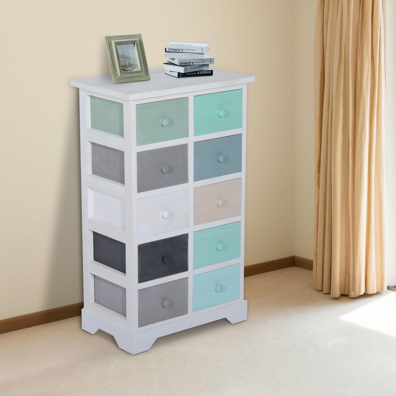 HOMCOM Wood Utility Storage Cabinet 10 Drawer : Bookcases - Best Buy ...