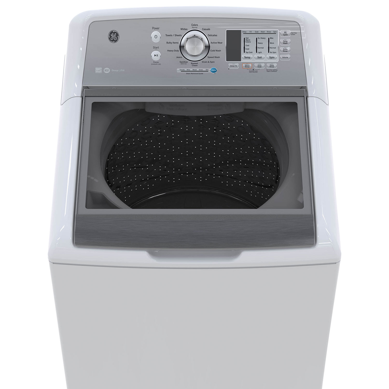 Topload Washer Ge 53 Cu Ft High Efficiency Top Load Washer Gtw680bmkws