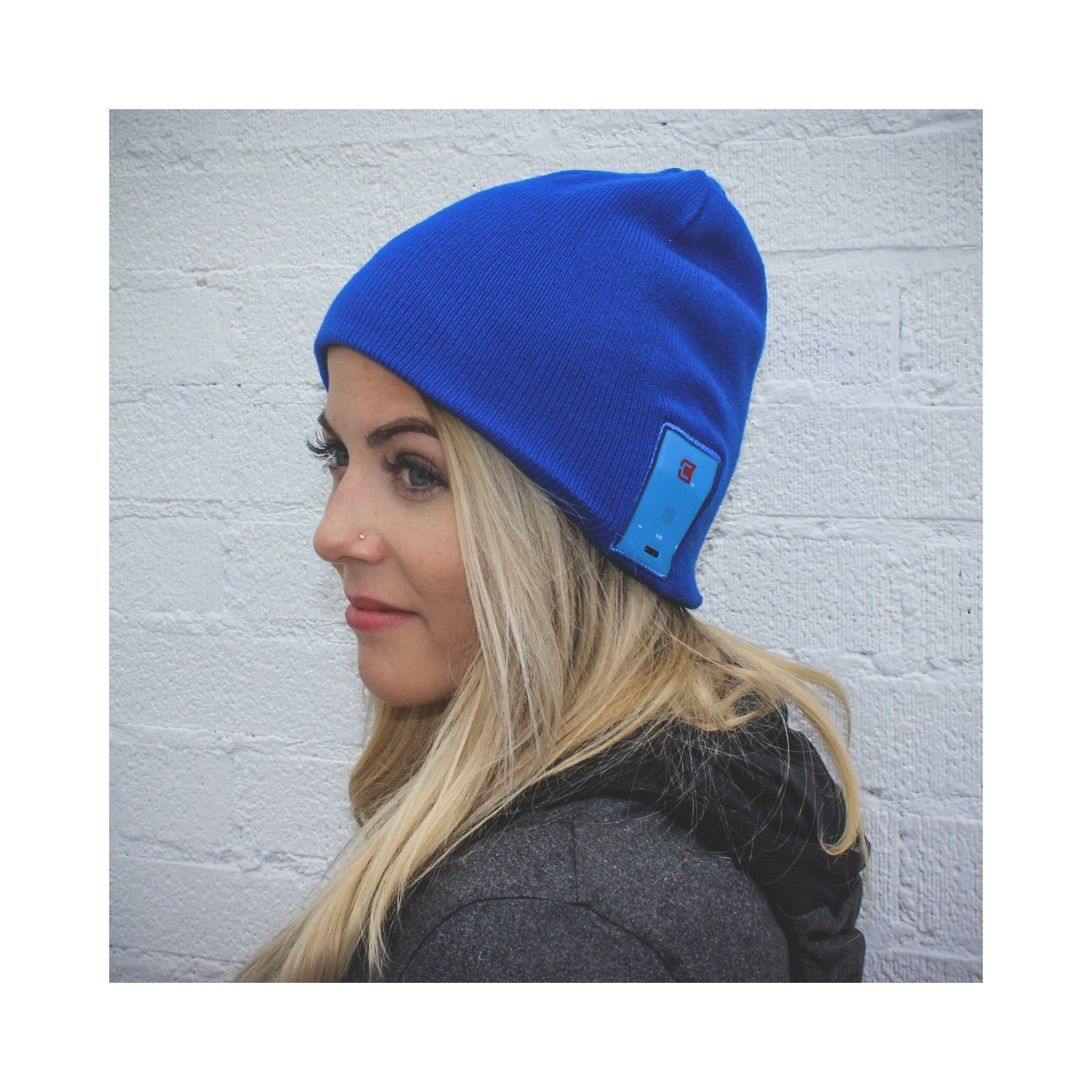 02fa814298e Caseco Dual Layered Bluetooth Toque Everyday Style Hat - Blue   Smart  Clothing - Best Buy Canada