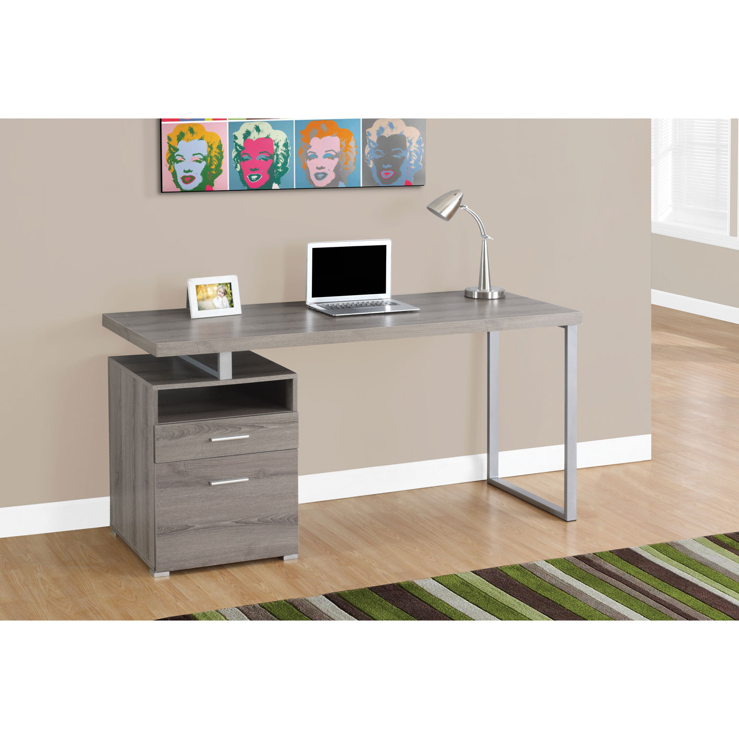 contemporary computer desk  dark taupe  desks  workstations  - contemporary computer desk  dark taupe  desks  workstations  best buycanada