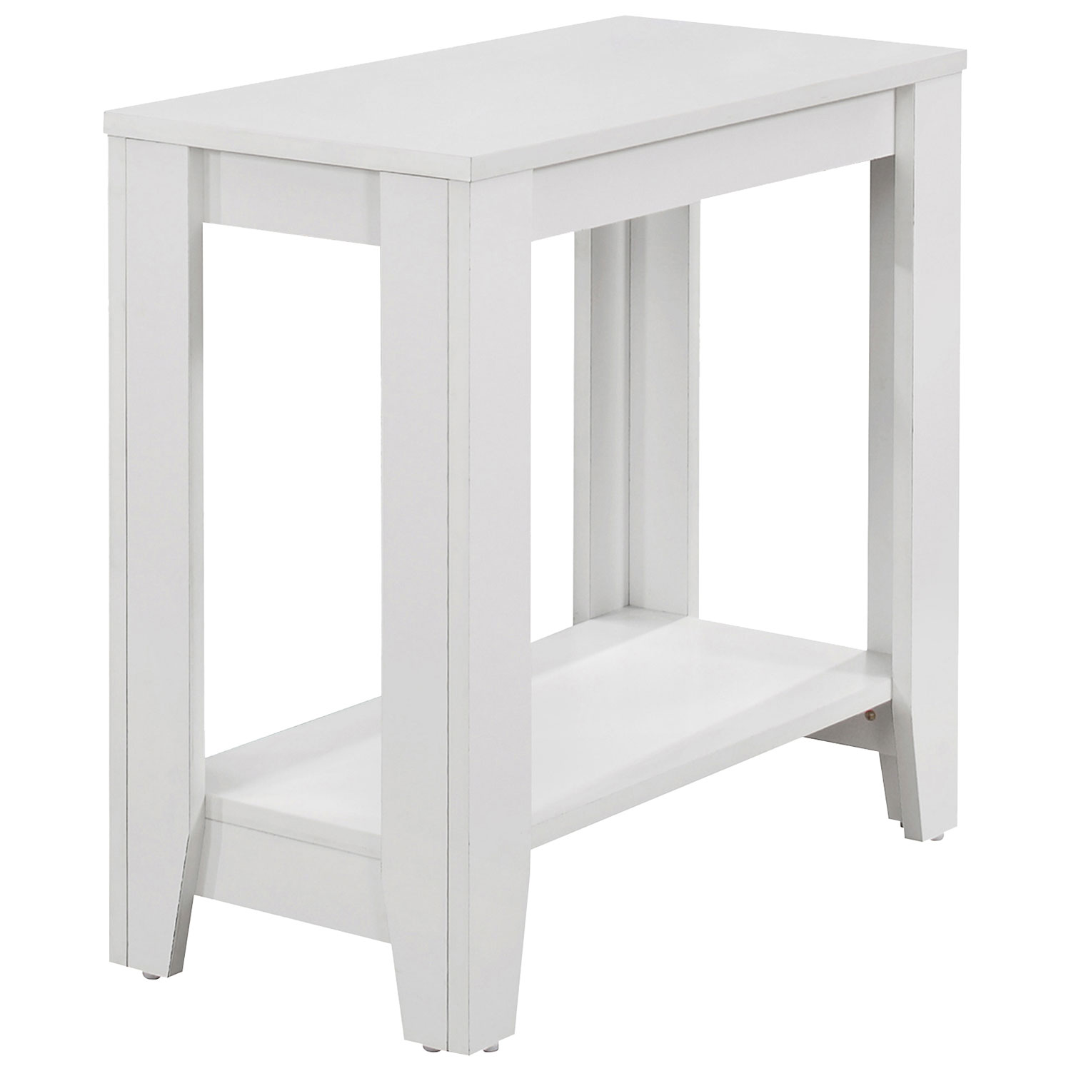 Contemporary rectangular accent table white online only