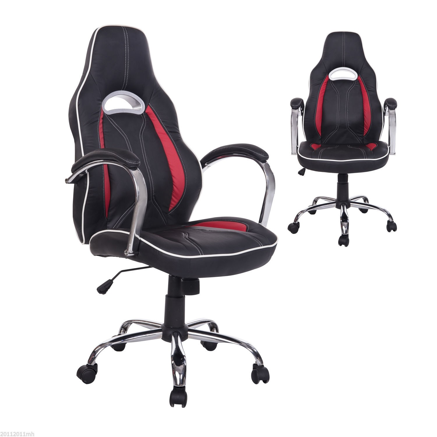 HOM Executive Racing fice Chair PU Leather Red Gaming Chairs