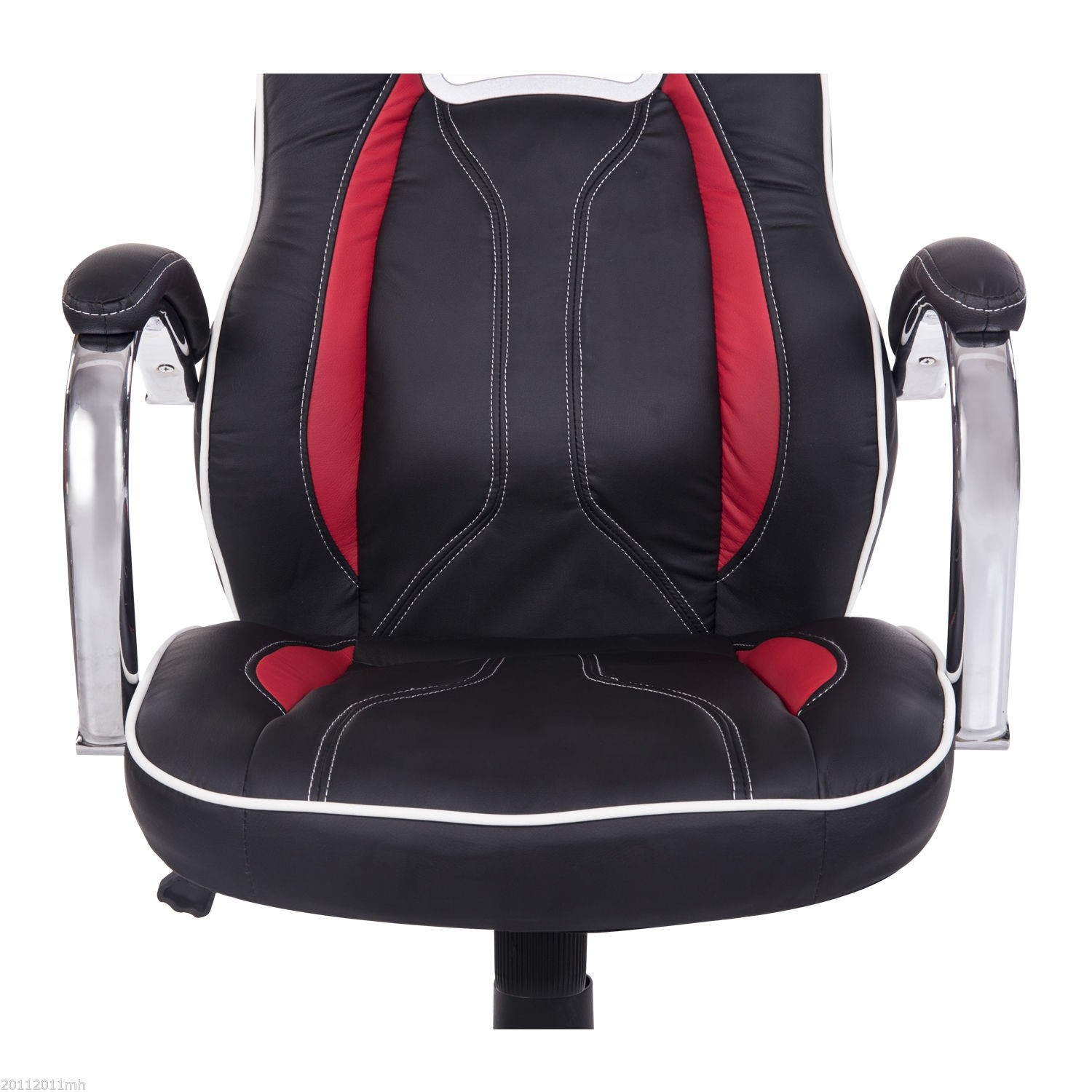 homcom high back executive racing office chair pu leather swivel
