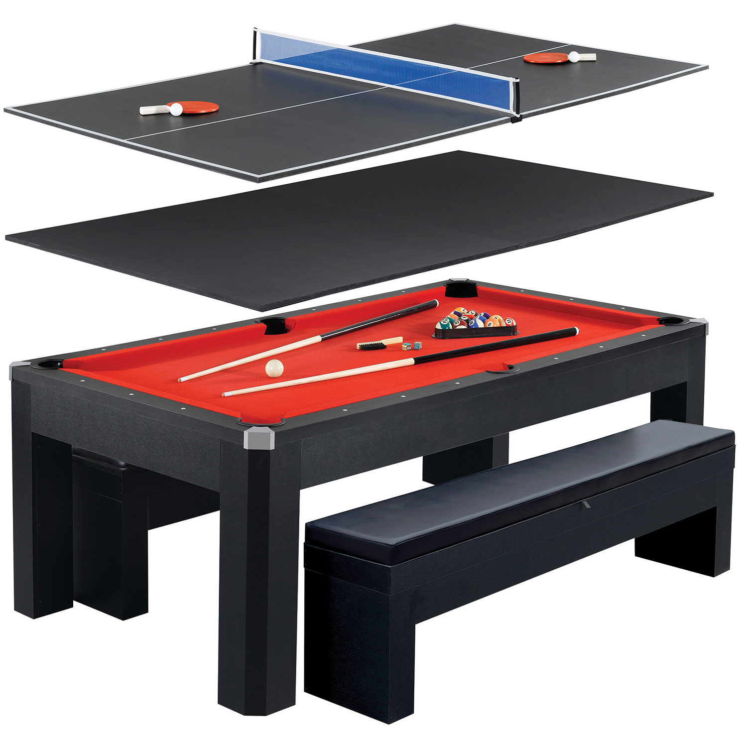 "Hathaway Park Avenue 84"" Multi Game Table Multi Game Tables"