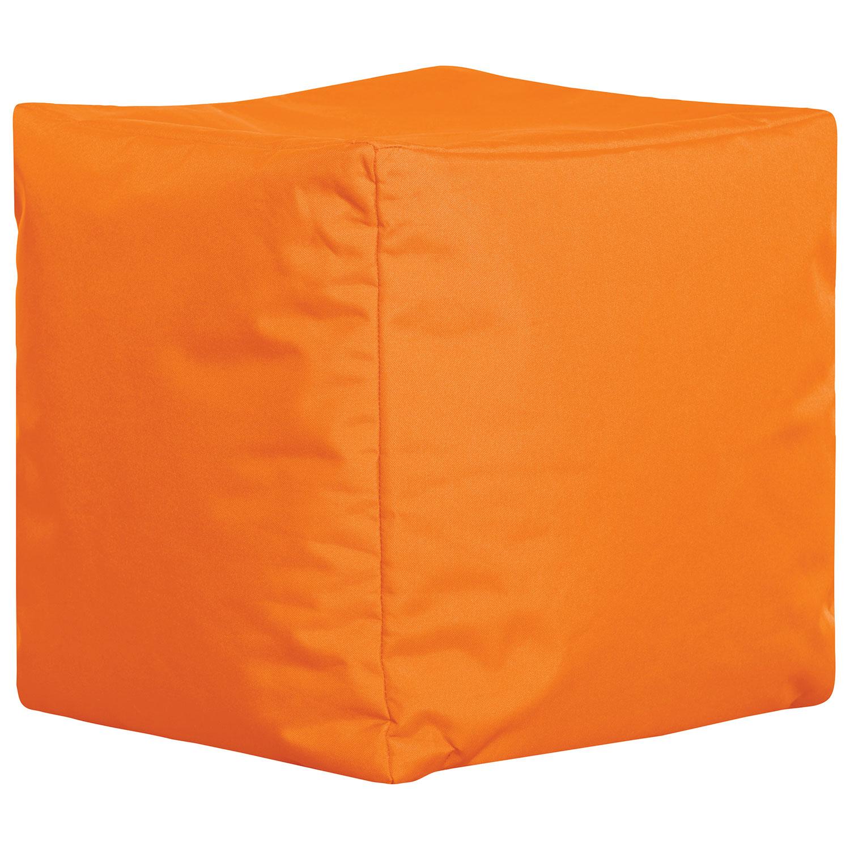 Sitting Point Cube Brava Contemporary Bean Bag Chair Orange
