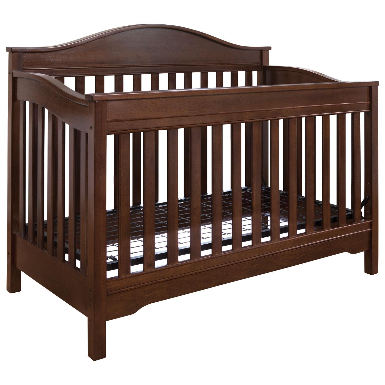 eddie bauer langley in convertible crib  walnut  baby cribs  - eddie bauer langley in convertible crib  walnut  baby cribs  bestbuy canada