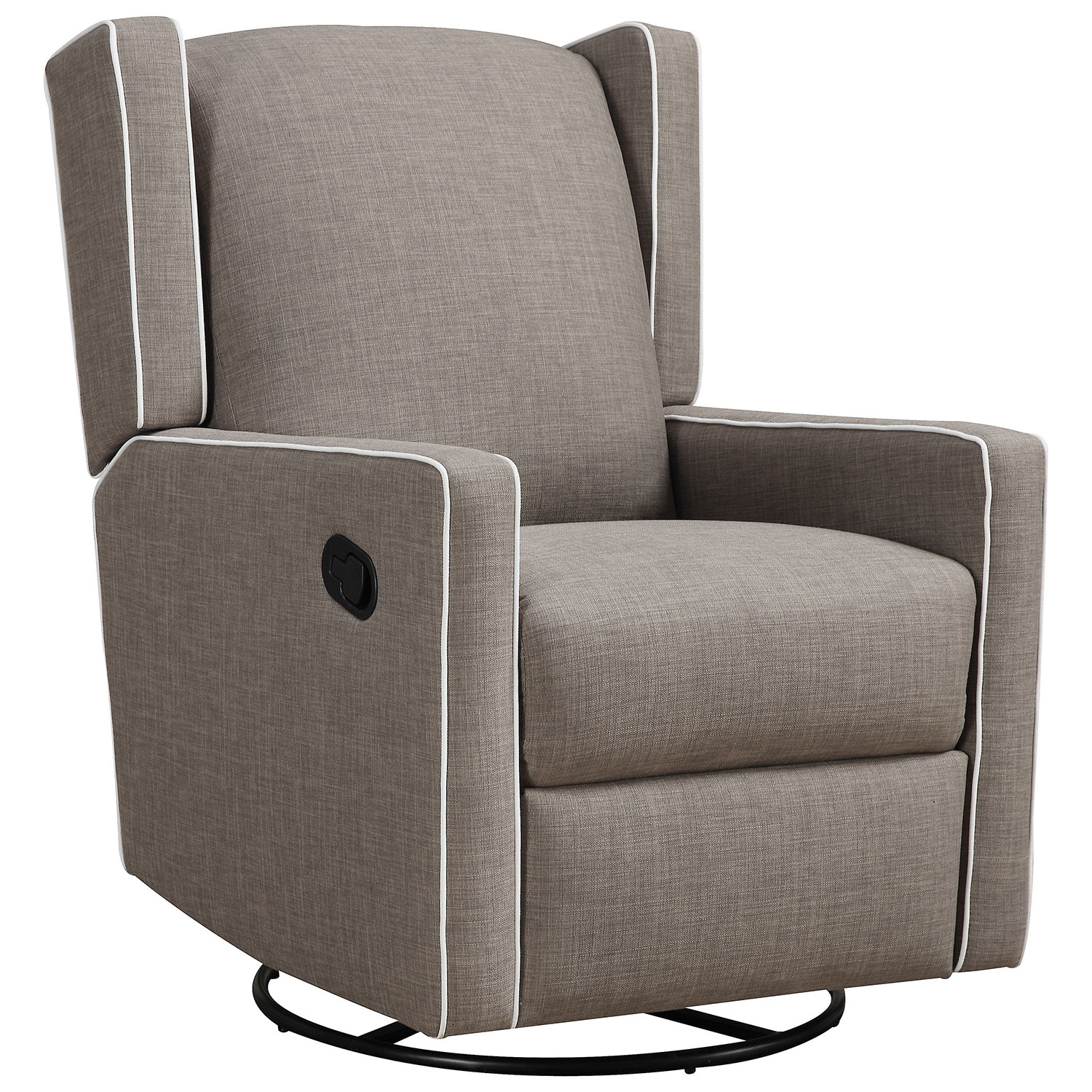 Mon Bebe Everston Swivel Glider Recliner - Taupe