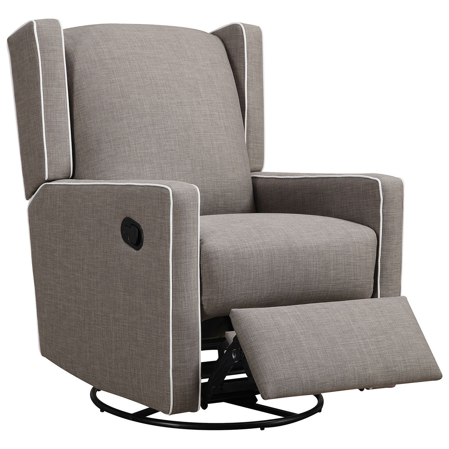 Baby Knightly Everston Swivel Glider Recliner Taupe Gliders