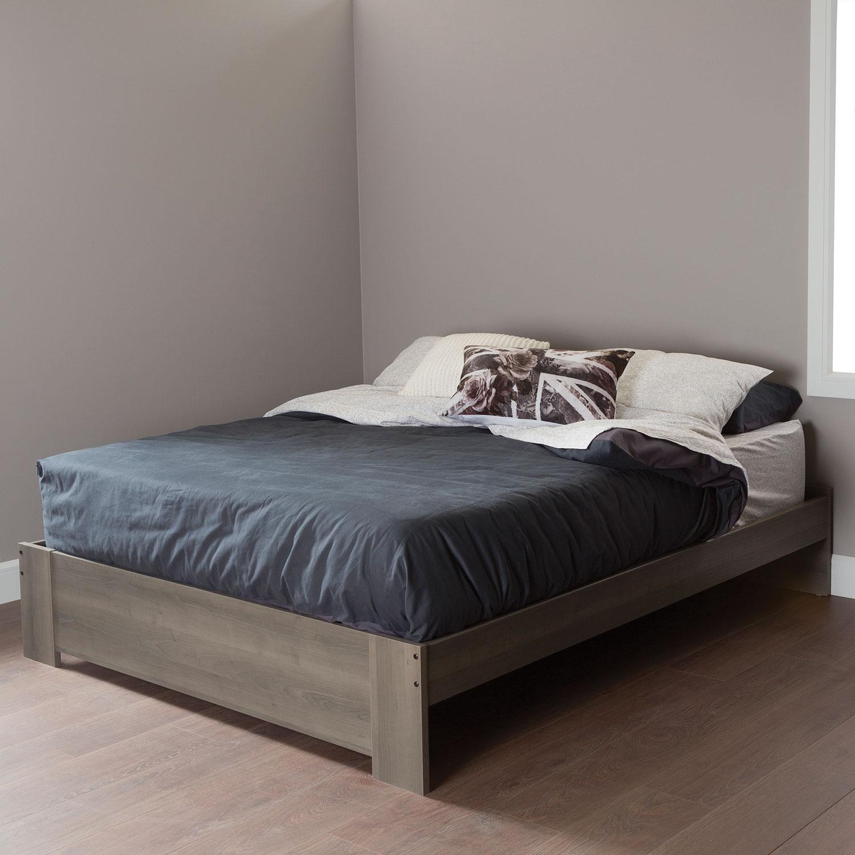 south shore gloria platform bed  queen  grey  beds  bed frames  - south shore gloria platform bed  queen  grey  beds  bed frames  bestbuy canada