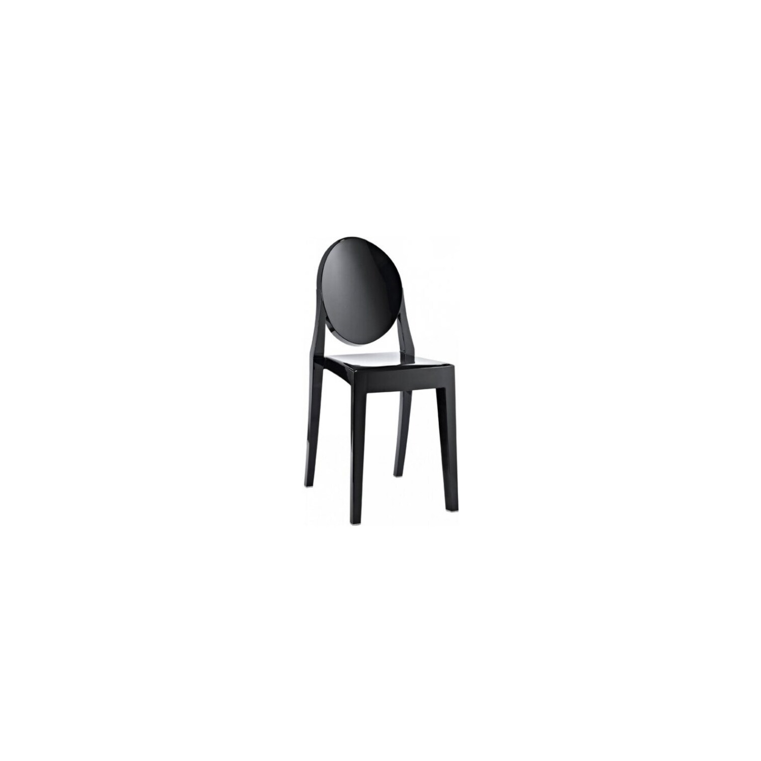 Nicer furniture 2 philippe starck louis xvi ghost side chair modern victoria dining chair plastic in black online only