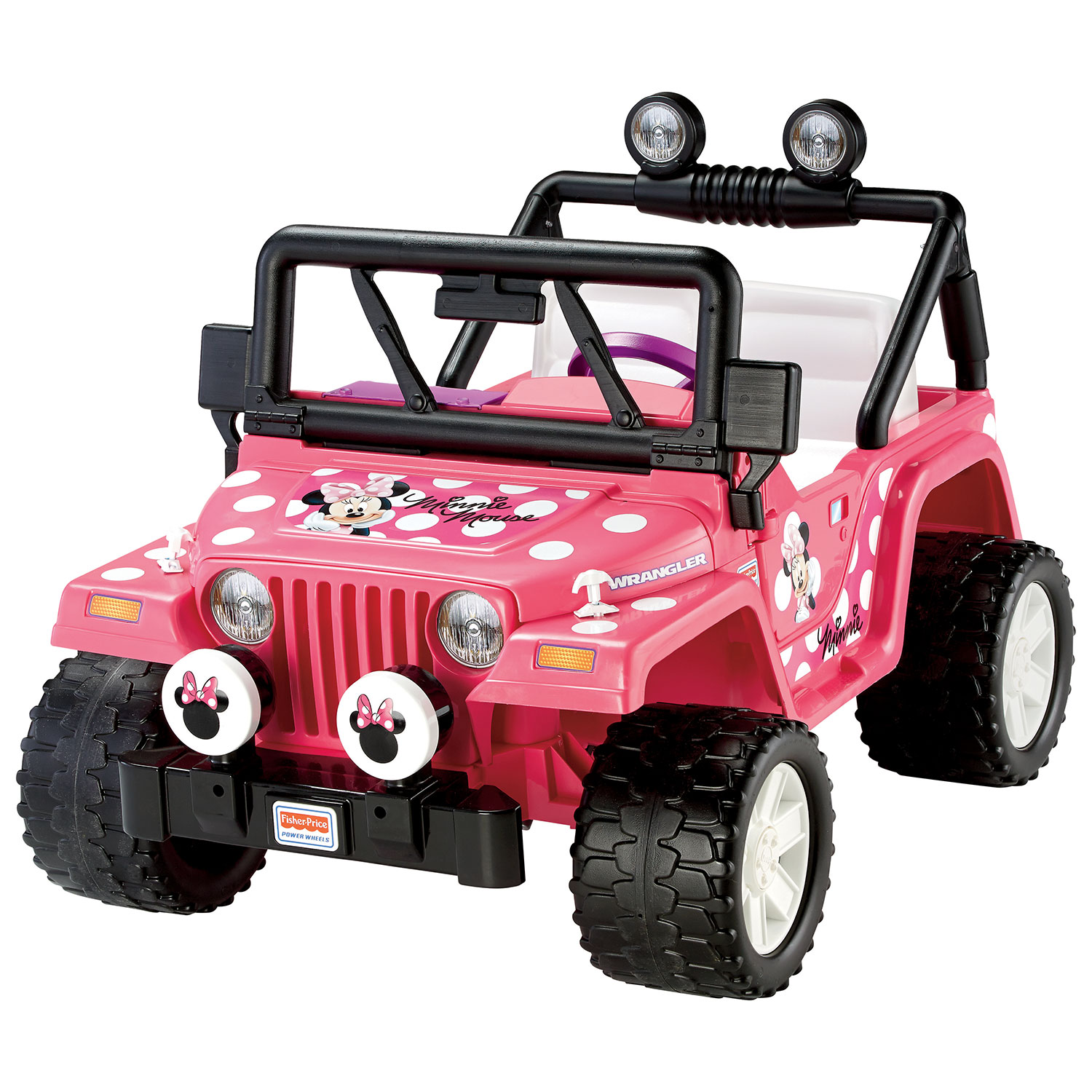 power wheels minnie mouse jeep wrangler bbm95 pink power wheels powered ride on toys best buy canada