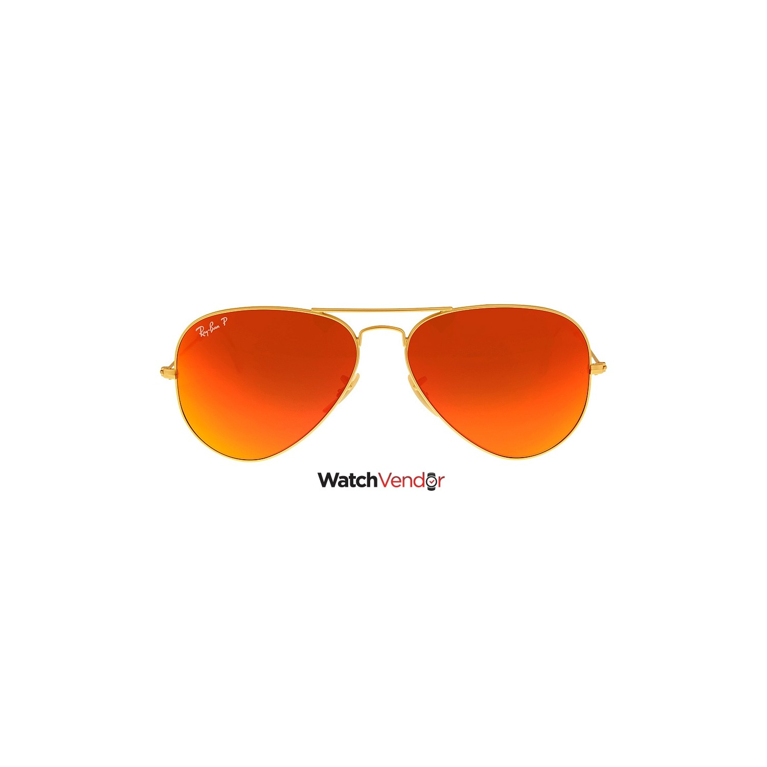 6a2170e893d6 Ray Ban Aviator Flash Polarized Orange Flash Sunglasses RB3025 112 4D 58 -  Online Only