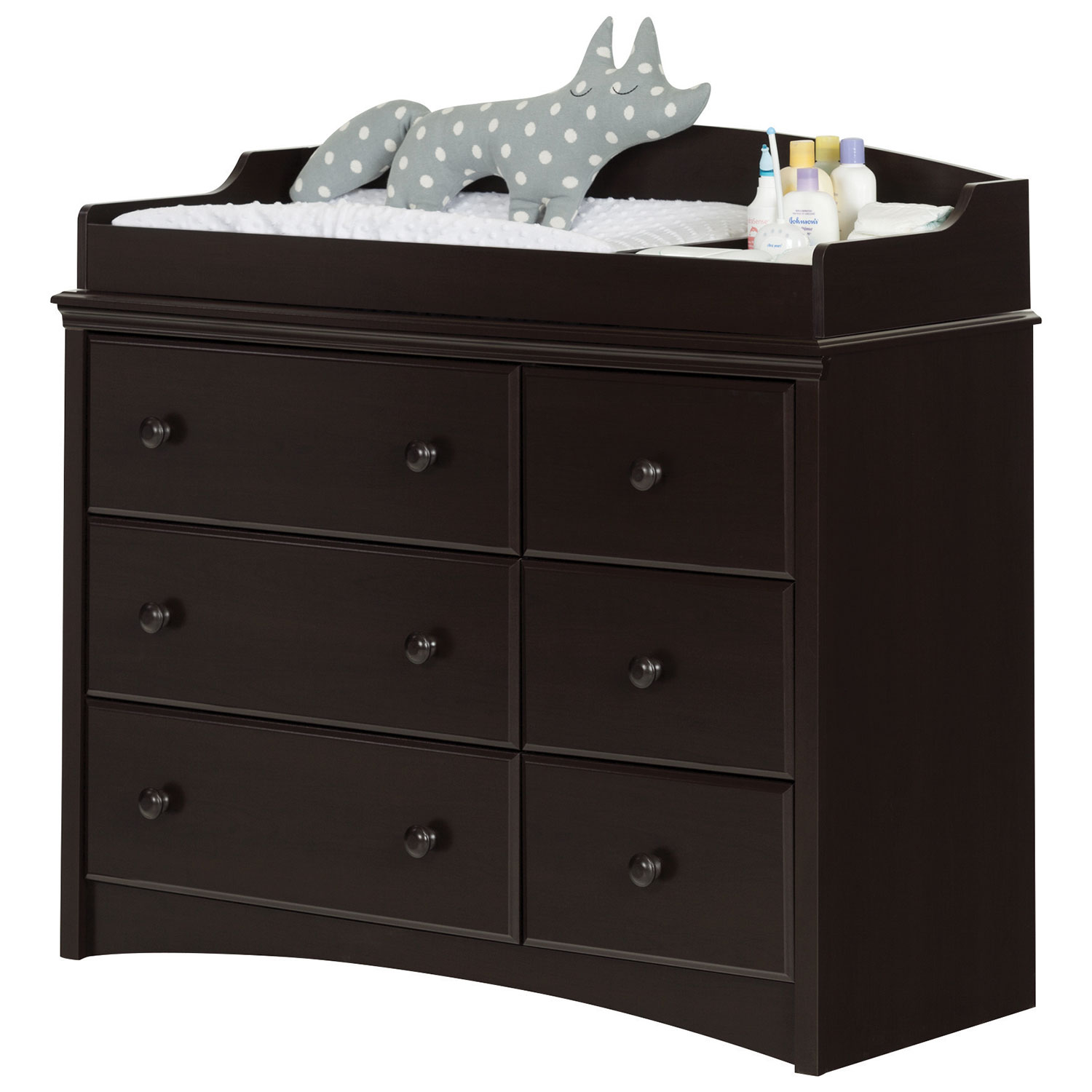 south shore angel changing tabledresser with  drawers  espresso  - south shore angel changing tabledresser with  drawers  espresso  changetables  best buy canada
