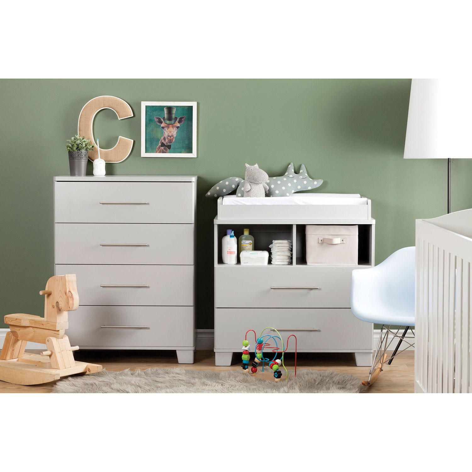 south shore cuddly changing tabledresser  soft gray  change  - south shore cuddly changing tabledresser  soft gray  change tables best buy canada